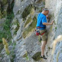 spots d'escalade en Savoie - falaise du Monal - secteur mur Bleu