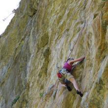 grimper en Haute Tarentaise proche Ste Foy - falaise du Monal