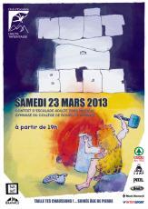 nuit à bloc à Bourg St Maurice, affiche Jugraphics